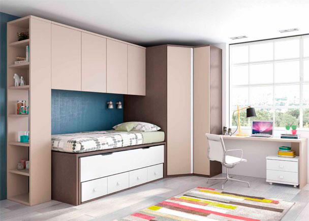 Juvenil dos camas escritorio y armario rinc n elmenut - Dormitorios infantiles precios ...