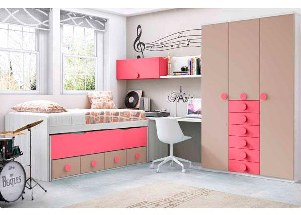 habitaci n con compacto armario sinfonier elmenut