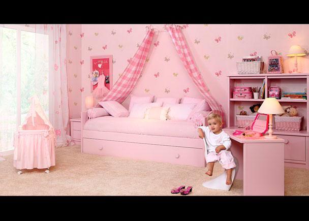 Habitación infantil equipada con los siguientes elementos:-Módulo bajo de 55 x43 F con 2 cajones-Tapa recta para módulo de 55 x 53-Cama nido modelo
