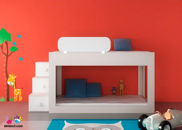 Dormitorio infantil con litera baja 074 006 elmenut - Dormitorio infantil literas ...