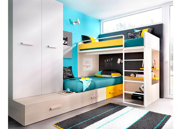 Dormitorio infantil con literas 203 3072015 elmenut - Cama nido economica ...