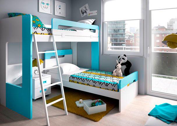 Habitaci n infantil con literas modelo dual elmenut for Habitacion con litera