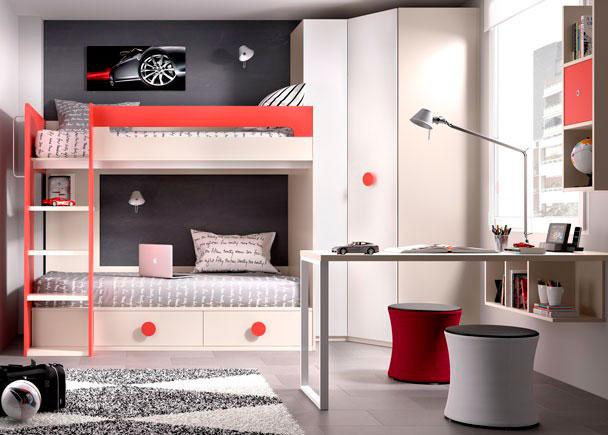 Habitaci n infantil con litera armario elmenut for Habitacion con litera