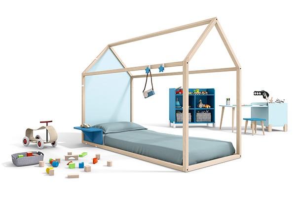 Habitacion cama Abatible en Blanco, Fucsia y Rojo. Elmenut