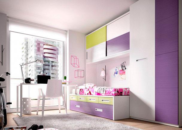 Habitación Juvenilequipada a base de elementos modulares y apilables.Los elementos que integran la presente composición son los siguientes:-Pata