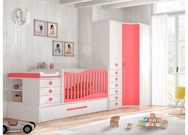Habitaci n infantil con cuna convertible elmenut - Habitacion convertible bebe ...