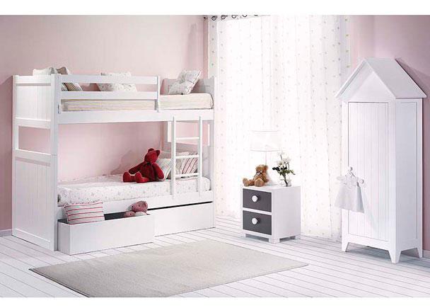 habitaci n infantil con litera de 2 camas y armario casita