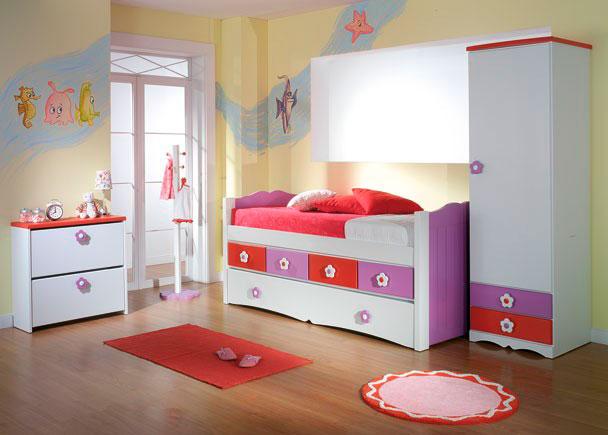 Habitaci n infantil con armario de una puerta elmenut - Armario de una puerta ...