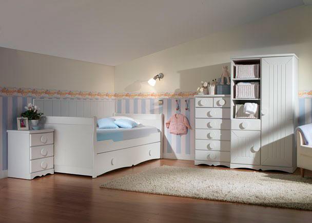 Juvenil con armario sinfonier y cama nido elmenut for Dormitorio juvenil cama alta