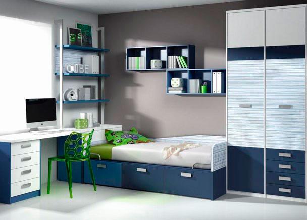 Habitaci n infantil con cama compacta 3 cajones elmenut for Cama compacta infantil