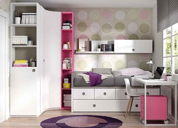 Dormitorio infantil con compacto nido y armario rinc n for Muebles ros precios