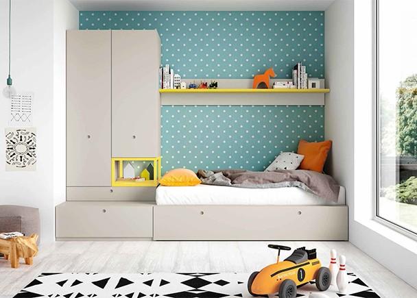 Dormitorio juvenil modular con armario y cama nido elmenut - Cama nido economica ...