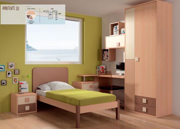 Habitaci n infantil con cama tradicional elmenut for Cama habitacion infantil