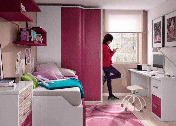 Dormitorio infantil con armario rinc n - Armarios de rincon ...