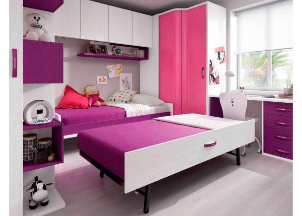 Habitaci n infantil con cama nido elmenut for Habitacion infantil dos camas