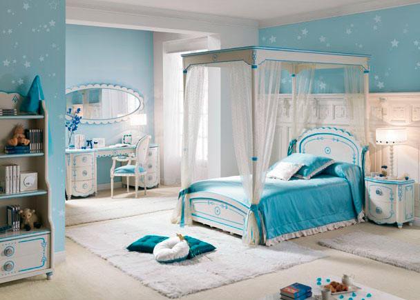 Habitaci n infantil con cama dosel 717 04 elmenut for Muebles rey segovia