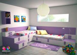 dormitorio infantil con camas cama nido base de xx cm dos camas