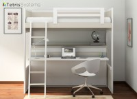 Litera y cama abatible inferior con mesa integrada diseñada para quien busca diseño exclusivo y romántico sin renunciar a las ventajas de camas abatibles