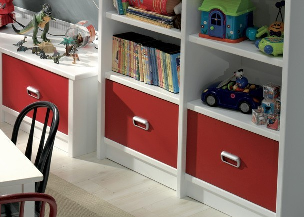Dormitorio infantil con literas y zona de juegos elmenut - Dormitorios infantiles malaga ...