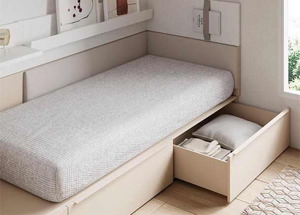 Juvenil con cama modular de cajones elmenut for Cama modular infantil