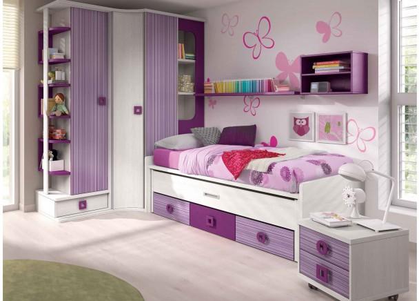 Dormitorio beb cuna convertible y armario elmenut - Armarios esquineros juveniles ...