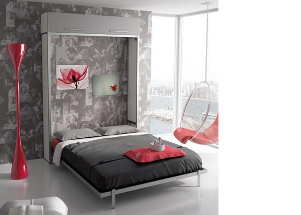 Juvenil con cama abatible vertical de 135 x 190 elmenut - Camas abatibles 135 ...