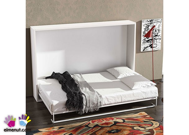 Cama abatible horizontal para colchon de 150 x 190 elmenut Camas abatibles barcelona