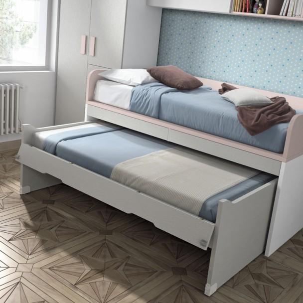 Habitaci n infantil con 2 camas armario cajones y 2 - Habitacion 2 camas ...