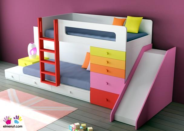 Habitaci n infantil 074 012 elmenut - Literas infantiles con tobogan ...