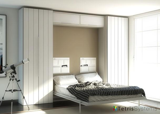 Dormitorio de matrimonio abatible elmenut - Sistema cama abatible ...