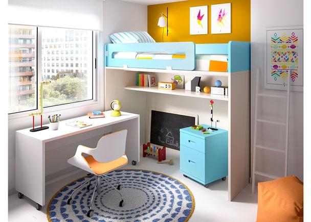 Habitaci n infantil con litera alta elmenut for Habitacion con litera