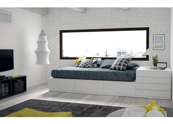 Estudio cama cubo cama abatible matrimonio elmenut for Planificador de habitaciones online