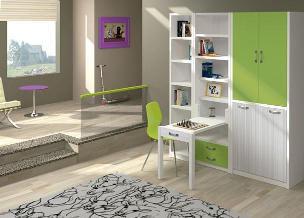Estudio con cama y escritorio plegables elmenut - Muebles en marchena ...