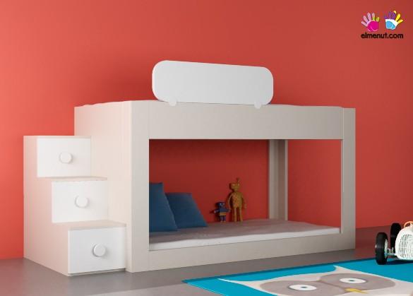 Dormitorio infantil con litera baja 074 006 elmenut - Literas bajas para ninos ...