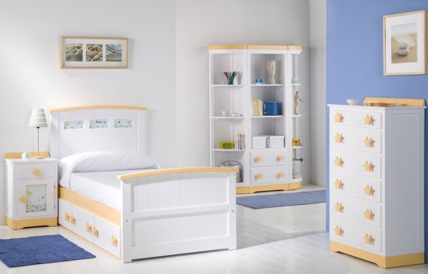 Dormitorio lacado con cama nido con cajones sinfonier y - Sinfonier infantil ...
