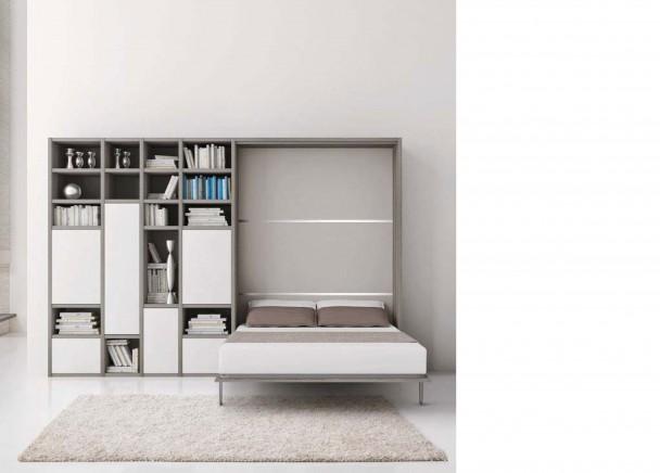 Mueble italiano con cama abatible para sal n elmenut - Mueble con cama abatible ...