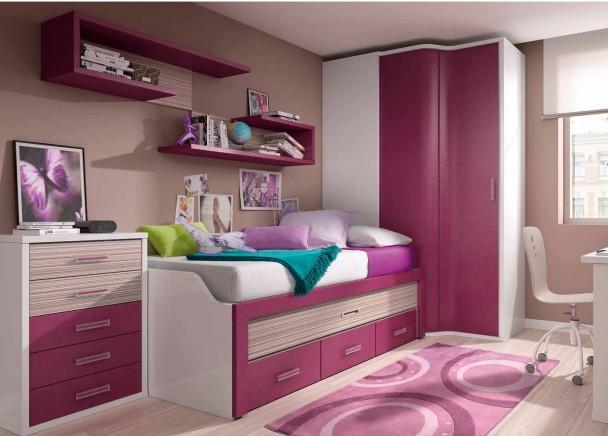Dormitorio infantil con armario rinc n elmenut for Escritorio rinconera ikea