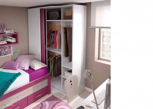 Dormitorio infantil con armario rinc n elmenut - Armarios de rinconera ...