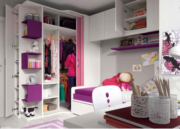 Habitaci n infantil con cama nido elmenut for Zapatero para habitacion