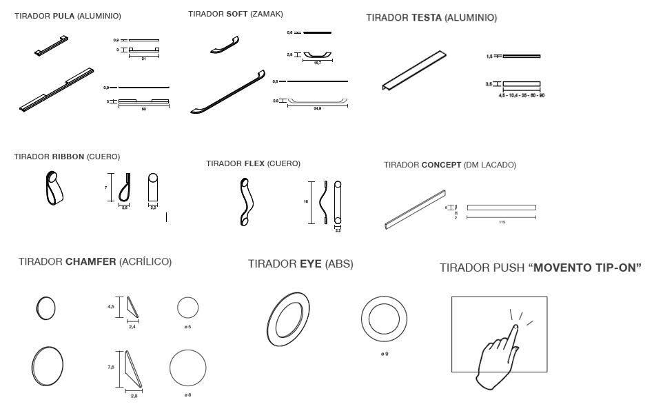 El programa Tetris Home ofrece 7 modelos de tiradores